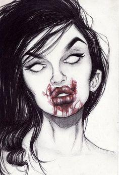 Zombie art self portrait contest?