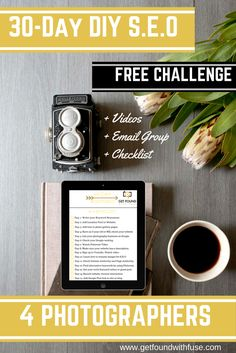 Diy seo challenge.get your blog found online #seo #diyseo #seoforphotographers