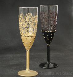 Gatsby Stil Hochzeit Champagnergläser Hochzeit Gläser