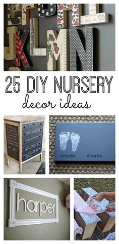 If you're looking for great accents for your baby's nursery, without breaking your budget, check out these 25 DIY nursery decor ideas. From art to organization and storage, your baby's nursery will be transformed. #7 is brilliant.