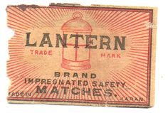 Lantern Brand Safety Match Box Label Made in Japan 033 | eBay