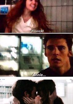 Finnick and Annie just adorable!!!! If only katniss and peetas reunion was like theirs