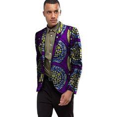 Africa Style Dashiki Print Suit Jacket Men Smart Casual Blazers African Festive Man Blazer For Party Costume Africa Clothing Smart Casual Blazer, Smart Casual Men, African Attire, African Wear, Africa Fashion, Fashion Men, Boys Uniforms, Printed Blazer, Dashiki