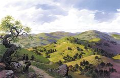Ted Nasmith Painting Green Hill Morning