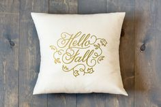 Hello Fall Decorative Pillow by BlissNotions on Etsy
