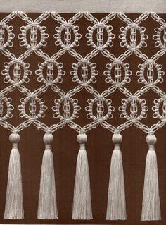 macrame fringing curtain wall hanging