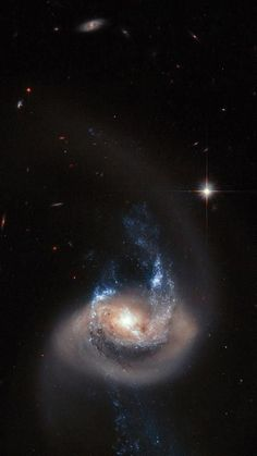 Hubble Space Telescope NGC 7714 is a spiral galaxy 100 million light-years from Earth. Galaxy Photos, Galaxy Pictures, Space Planets, Space And Astronomy, Ciel Nocturne, Planets And Moons, Spiral Galaxy, Hubble Images, Space Images