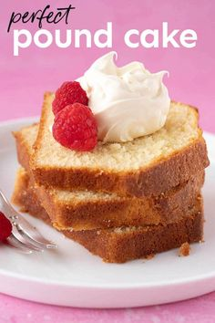 Deliciously soft and tender Pound Cake made from scratch. This easy recipe produces a moist cake with a tight crumb and a crisp crust. Recipe from sweetestmenu.com #poundcake #cake #dessert #baking Best Cake Recipes, Pound Cake Recipes, Sweet Recipes, Pound Cakes, Great Desserts, Dessert Recipes, Basic Butter Cookies Recipe, Cake By The Pound, Tall Cakes