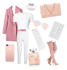"""pink coat"" by mynameisn on Polyvore featuring Rosetta Getty, Michael Kors and Chanel"