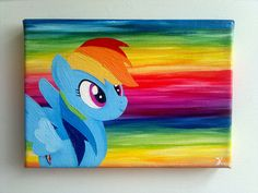 another Rainbow Dash Size: 13 cm x 18 cm oil-based paint on canvas This is for sale. -- 20 Euro --