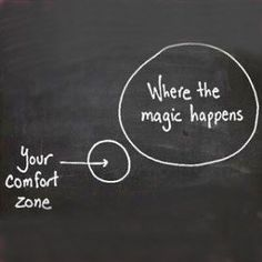 Get out of your comfort zone! We all have a THRESHOLD, and you've got to  reach outside it to make amazing things happen. It means being uncomfortable, but it also leads to transformation.