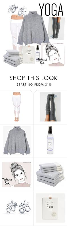 """Sunday Morning Yoga"" by mtdreams ❤ liked on Polyvore featuring Electric Yoga, The Laundress, Hamam and Bling Jewelry"