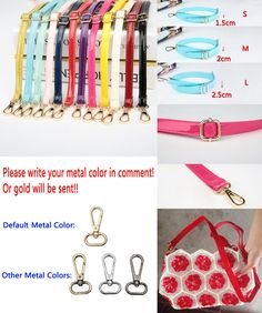 Inventive 4 Metal Colors Luggage & Bags Adjustable Replacement Shoulder Strap Patent Pu Leather Bag Straps For Purses Handbags Bags Diy Belts 3 Sizes
