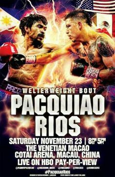 Boxing Saturday November 23rd Pacquiao vs Rios 7:00 PM 10.00 Cover Call for Reservations Today 254-953-7412