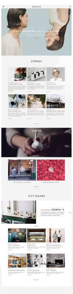 KINFOLK website redesign concept / by Andreas M Hansen on Behance