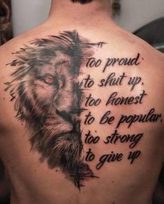 50 eye-catching running tattoos that bring color into play - amazing lion . - 50 eye-catching running tattoos that add color – amazing lion tattoo ideas © tattoo artist # tat - Cool Chest Tattoos, Best Sleeve Tattoos, Badass Tattoos, Tattoo Sleeve Designs, Sexy Tattoos, Tattoo Designs Men, Amazing Tattoos, Lion Tattoo Design, Insane Tattoos