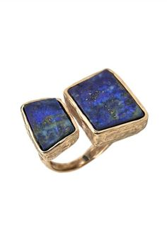 Laura Volpi Ring Terra with Lapis
