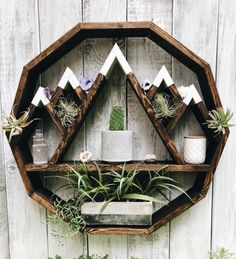 Mountain Circle Shelf Mountain shelf circle shelf moon shelf essential oil s Altar, Wood Crafts, Diy And Crafts, Home Projects, Projects To Try, Circle Shelf, Mountain Shelf, Essential Oil Shelf, Rm 1