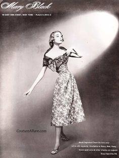 Couture Allure Vintage Fashion: Forgotten Designer Mary Black