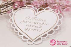 Placa em forma de coração para Casamento