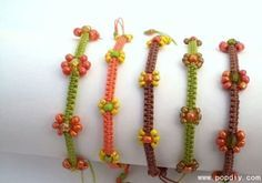 Fare di perline fai da te tessuti a mano braccialetto del nodo Tutorial Grafica - facile da controllare ISTITUTO