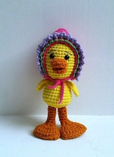 Duck Crochet Pattern - Free by Jackie Laing of Amidorable Crochet / Ducks - Animal Crochet Pattern Round Up - Rebeckah's Treasures