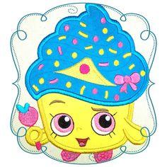 Shopkins Applique Cupcake Shopkins, Third Birthday, Clipart, Vanilla Cake, Painted Rocks, Tweety, Disney, Princess Peach, Character Design