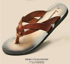 Fashion-Leather-Flip-Flops-Thongs-Casual-Beach-Roman-Mens-Sandal-Shoes-Slippers