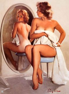 Partial Coverage (Flashback; Sunnyside Up) - Gil Elvgren 1960