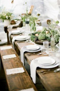 Farm to Table Reception Inspiration From Cedarwood Weddings | Cedarwood Weddings. Garden delight
