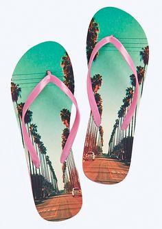 Palm Tree Flip Flops | Tropical Splash | rue21