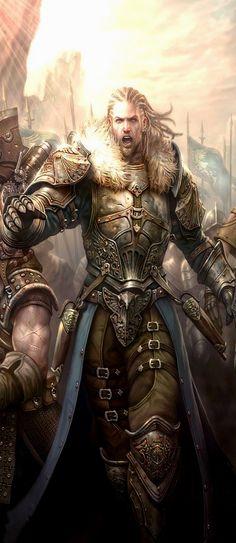 Fighter Warrior Paladin Cavalier Knight Barbarian Fantasy Portrait
