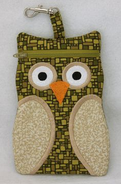 Owl Zipper Cases Machine Embroidery Design by EmbroideryGarden