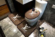 ルイヴィト 浴室足ふきマット gucci トイレ浴室マットエルメス方形マット3点セットU型トイレマット Supreme Lv, Toilet Mat, Bathrooms, Touch, Design, Bathroom, Full Bath, Bath