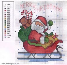 Are you looking for Christmas cross stitch patterns? Arte del Ricamo has selected for you the best Santa Claus free cross stitch patterns published by our embroidery friends. Santa Cross Stitch, Cross Stitch Cards, Counted Cross Stitch Patterns, Cross Stitch Designs, Cross Stitching, Cross Stitch Embroidery, Embroidery Patterns, Stitching Patterns, Hand Embroidery