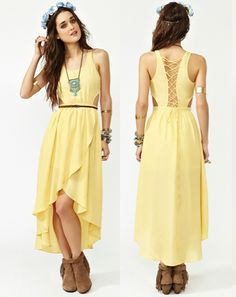 faeee7db08f1 LOVE this dress!! What do you think   D  3  style  fashion  dresses   meganandliz  yellow  summer  pretty  nastygal