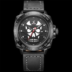 Cheap masculino, Buy Quality masculinos relogios directly from China masculino watch Suppliers: WEIDE Watch Men Leather Strap Cool Skull Dial Analog Display Date Clock Buckle Band Mens Casual Quartz Watch Relogio Masculino Mens Sport Watches, Mens Watches Leather, Luxury Watches For Men, Leather Men, Black Leather, Mens Watch Brands, Men Watch, Skeleton Watches, Rolex Datejust