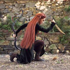 You like killing things orcs? Do you like death? Let me give it to you!   Cosplayer: @waaaahh  Photo&edit: @mvreenv  #tauriel #taurielcosplay #cosplayer #cosplayersofinstagram #wig #frontlace #dagger #bow #replica #handmade #kinzica #fantasy #pisa #toscana #tuscany #mirkwood #elf #elven #silvanelf #nicewigelvenking #whatsitmadeof #yourmotherschesthair