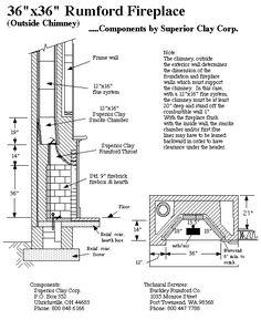 Fireplace flue plan - Google Search