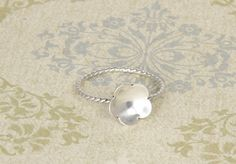 $28.00 flower cup ring {etc jewelry ~ hand stamped jewelry to help raise funds for a Rwandan adoption}