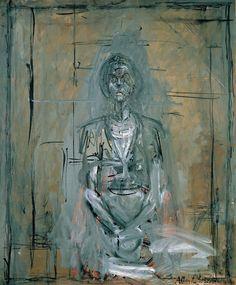 Alberto Giacometti | Bildnis von Annette - Portrait of Annette | 1958, © Albertina, Wien