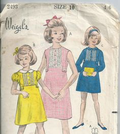 Girls' High Waisted Dress - Size 10 - Weigel's Pattern 2493 by LouisasNeedle on…