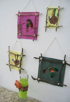 birds in stick frames by forty-two roads