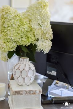 The big home office question- how do you disguise ugly computer cables? Learn how to hide computer cords when your desk is in the center of the room. Cozy Home Office, Home Office Space, Small Office, Home Office Design, Home Office Furniture, Home Office Decor, Office Ideas, Casual Office, Desk Ideas