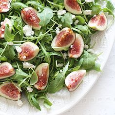 Your favorite lettuce (any kind) , Figs, and Fetta or Goat Cheese. Yum.