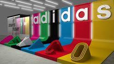 Stand Design, Booth Design, Middle Island, Stage Set Design, Big Letters, Retro Summer, Pop Display, Brand Promotion, Restaurant Interior Design