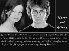 Harry Potter Wallpaper: harry and ginny Harry Potter Ginny Weasley, Gina Weasley, Harry Potter Ships, Harry Potter Images, Harry Potter Facts, Harry Potter Quotes, Harry Potter Books, Harry Potter Fan Art, Harry Potter Universal