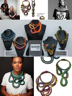 jewelry made from African Wax fabric