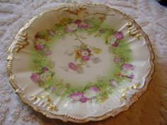Vintage LIMOGES Hand Painted Collectible Plate by VintageSite