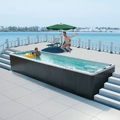Outdoor Bathtub For Spa Small Backyard Pools, Small Pools, Swimming Pools Backyard, Pool Spa, Swimming Spa, Spa Tub, Outdoor Bathtub, Outdoor Spa, Pool Prices